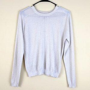 Topshop Shimmery Pullover Semi Sheer 8